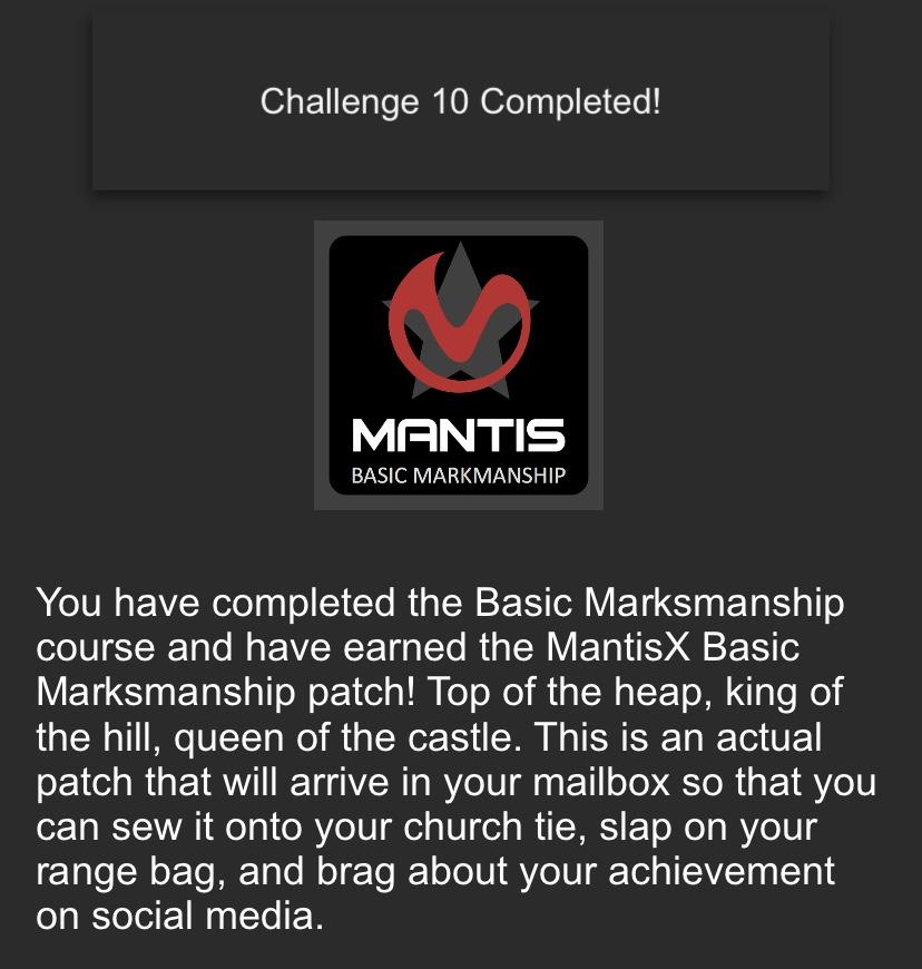 Mantis Marks Complete